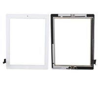 Wholesale Original Grade AAA Touch Screen Glass Panel with Digitizer Buttons Adhesive for iPad mini mini Black and White