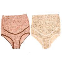 Wholesale High Waist Comfortable Women s Panties Cotton Briefs Dot Flower pregnant women Underwear Plus size XL XXL Top Good