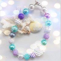 bubble gum necklace - 2pcs baby girls white resin flower children chunky bubble gum necklace kids beads necklace