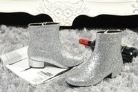 american ankle boots - 2016 new winter boots European and American style big sequins Size XZ