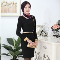 airline crew - Airline Uniforms OL Package Hip Fashion Long sleeved Dress Uniforms Overalls Women With S XXXL Sizes