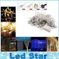 Wholesale Curtain String Lights Garden Lamps New Year Christmas Icicle LED Lights Xmas Wedding Party Decorations M M M M M