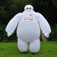 Wholesale Halloween Inflatable costume Big Hero Baymax Party Cosplay costume for men adult inflatable clothing baymax Costume