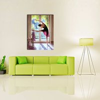 ballerina canvas painting - LK115 Panel Beautiful Ballerina Dancing Paintings Wall Art Modern Pictures Printed Handmade On Canvas Paintings For Home Bar Hub Hotel Re