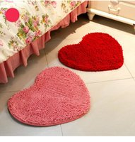 Wholesale Floor Rug Soft Solid Anti skid Carpet Living Dining BedroomFashion cute love mattresses heart shaped door mats wedding bedroom personalized