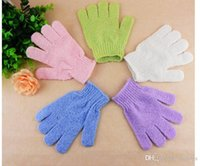Wholesale 2015 Exfoliating Bath Glove Five fingers Bath Gloves Bathroom Amenities