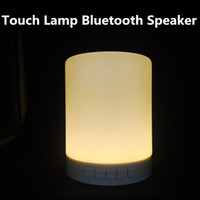 audio decor - Portable Wireless Bluetooth Speaker Smart Touch Lamp Speaker Table Lamp Decor LED Dimmable Night Light for Mobile Phone Support TF card