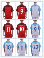 away england - Fast Uniforms Kit Youth Kids European Cup England KANE Rooney STERLING BARKLEY Soccer Jersey Red White Away Jerseys Shirt