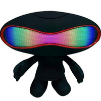 Wholesale New Q30A Cartoon Alien Bluetooth Speaker Rugby Portable Mini Wireless For Best Pill Mp3 Music Player Speakers With FM Radio LED Light Show