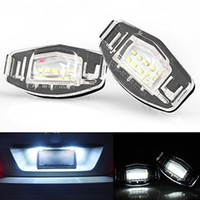 acura mdx rear - 2x Error Free White Car styling Led Rear License Plate light for Honda Civic Accord Odyssey Acura TSX MDX Auto Lamp