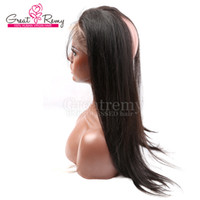 band lace front wig - Adjustable Lace Band Frontal Wigs with Baby Hair Indian Straight Virgin Human Hair Circumstance inch and Front Lace Width quot Greatremy