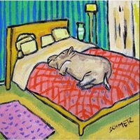 animal hippo - hippopotamus hippo sleeping glass art tile coaster gift Hand Painted Folk Pop Art Oil Painting On Canvas any customized size accepted sch