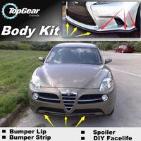 Wholesale Bumper Lip Lips For Alfa Romeo Kamal AR Skirt Deflector Spoiler For Car Tuning The Stig Recommend Body Kit Strip