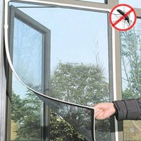 Wholesale Bug Mosquito Window Net Mesh Screen Protector Fly Screen White Black Color Insect Room Cortinas Curtains Protector Magic Mesh Sheer Curtains