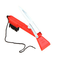 Wholesale Multi Purpose Red Golf Club Cleaning Brush Multifunction Shoes Cleaner With Stand Metal Knife