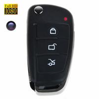 Wholesale 20pcs HD P Spy Car Key Hidden Camera MINI DVR IR Night Vision Motion Detection Mini DV Portable Covert Nanny Security Camcorder DVR