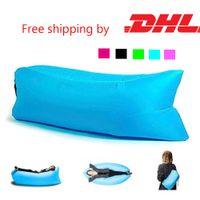 Wholesale Hangout Fast Inflatable Chair Lounger Air Sack Sleep Camping Sofa Beanbag Beach zitzak Outdoor Lounge Sdraio Lazy Sleep Bag Bed