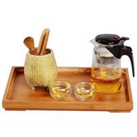 Wholesale Sizes Storage Trays Kung Fu Tea Bamboo Saucer Fruit Plate Tea Tray Home Decoration Storage Tray Vintage Tableware