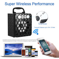 audio plugs - MS BT Multimedia Wireless Bluetooth Speaker Loudspeaker FM Radio Mobile Mp3 Speaker Subwoofer USB mm Plug Support SD TF V2006