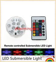 Wholesale YON LED Submersible Light Color Changeable Coaster Waterproof Cup Mat with Key IR Remote Controller