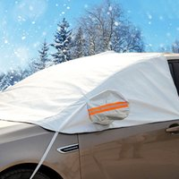 Wholesale Car styling Waterproof Durable Sun Shade Half car cover SUV Case for the Car covers for Auto Documents