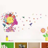 beautiful girls bedrooms - Beautiful Fairy Princess Butterly Decals Art Mural Wall Sticker Kids Girl Room Decor Pink Color