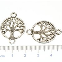 Wholesale jewelry findings diy connectors pendants infinity bracelets necklaces charms life of tree antique silver open metal free ship mm