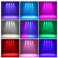 Wholesale 12 Mini LED Par Light RGB Stage Light Magic Effect DMX512 Disco Stage Lighting