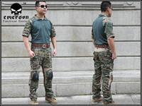 bdu shorts - Combat uniform Emerson BDU Tactical version Combat Set WOODLAND MAPART short sleeve summer Suits EM6920 price