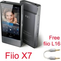 Wholesale Free gift FIIO L16 Fiio X7 DAC ES9018S Android based Smart Portable Music Player Mastering Quality Lossess Playback Free DHL