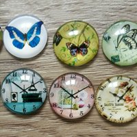 Wholesale Glass Cabochon mm Flatback Dome Cabochon Embellishments Findings Fit DIY Accessories Jewelry Making Supplies