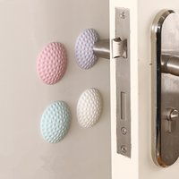Wholesale 3pcs Doorknob Wall Mute Crash Pad Cushion Cabinets wall Stickers Handle Door Lock Protective Pad Protection home decor