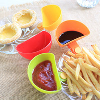 Wholesale 4Psc Set Dip Clips Kitchen Bowl kit Tool Small Dishes Spice Clip For Tomato Sauce Salt Vinegar Sugar Flavor Spices