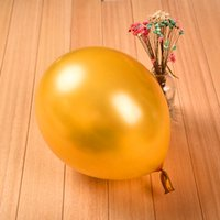 advertising room - 12inch g latex pearl balloon birthday party supplies advertising decorate wedding room bead light balloons Luxury golden