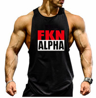 aerobics men - Men s Letter Print Cotton O neck Gym Sports Tank Tops Aerobics clothing Fitness Running Casual Sleeveless T Shirts Vests Undershirt XXL