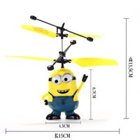 Wholesale Hot selling Remote control aircraft induction aircraft yellow people children toy flying electric suspension and mini helicopter