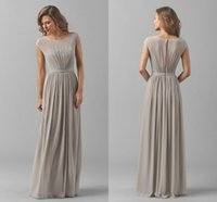 best designer bridesmaid dresses - Long Chiffon Bridesmaid Dresses Capped Sleeve Jewel Good Sell Mother Dress Cheap Formal Gown Fantastic Hot Sale Best Designer Elegant Dress