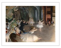 ballet posters - figurative art posters canvas painting mural prints giant poster home decorative art Edgar Degas The Rehearsal of the Ballet on Stage
