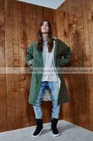 army vietnam - Fear Of God Army green lamb wool coat Vietnam Tent Jacket Justin Bieber Kanye West Dark Green Long Coat