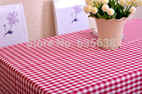 Wholesale Buffalo Checked Gingham Cotton Fabric Kitchen Tablecloth Assorted Colors Sizes
