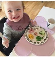 Wholesale DHL Fedex Free New Fashion Design Letters Safety Melamine Baby Fedding Dinner Bowl Tableware children Porringer Fruit Dishes M424