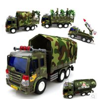 Wholesale Boy military tank missile inertial truck tanker truck with soldiers dolls children s toys Cars model blocks army toys for boys army toys