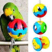 Wholesale styles Multi Color Pet Bird Bites Toy Parrot Chew Ball Swing Cage Hanging Cockatiel New Pet Toys