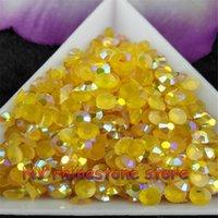 achat en gros de sacs de gelée jaune-Livraison gratuite 5000pcs / bag SS16 4mm TM or jaune Magic couleur AB gelée de résine cristaux rhinestones perles Nail Art