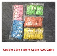 Wholesale Colorful Noodle Style mm Male to Male Audio Cable Headphone Jack aux Copper Line For Mobile Phone MP3 Carplay