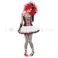 adult female clown costume - New Halloween Cosplay Costume Female Cosplay Dress Adult Circus Clothes Women Clown Costume Halloween Girl Dress