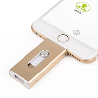Wholesale 2016 Newest USB Flash Drive For iPhone7 Plus S ipad Metal Pen Drive HD Memory Stick Dual Purpose Mobile Otg Micro GB GB Pendrive