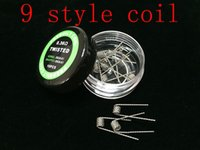 Wholesale 100 pieces Flat twisted wire Fused clapton coils Hive premade wrap wires Alien Mix twisted Quad Tiger Heating Resistance box wire