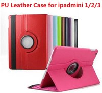 Cheap 360 Degree Rotation smart Stand PU Leather Case Cover For Apple for ipad 4 air 5 mini mini 2 Retina Samsung galaxy Tab 3 7.0 10.1 tab cheap