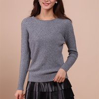 Wholesale 2016 Autumn Winter Top Cashmere Pullovers Soft O Neck Knitted Sweater Women Fashion Clothing